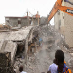 Clodys Center building collapse in Kinshasa on 10/14/2013