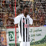 TP Mazembe's Nathan Sinkala celebrates after scoring against Al Merreikh