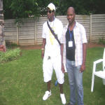 Koffi Olomide and Kenneth Seema at Polokwane South Africa