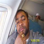 NGUNZA FUNGULA on the plane to Zimbabwe