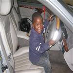 My son in my car